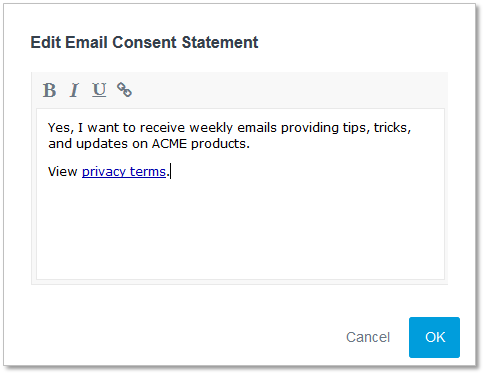 Overview Email Consent Etrigue Support